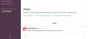 Slack Incoming webhooks create webhook - save it and check the test message